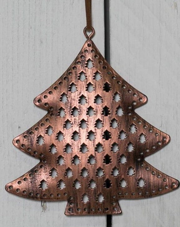 Copper Christmas Tree Hanging Decoration