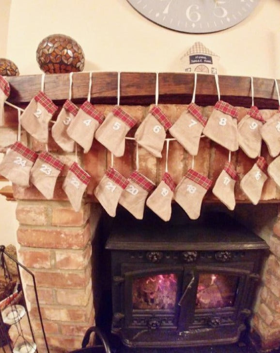 Countdown Christmas Stocking Garland
