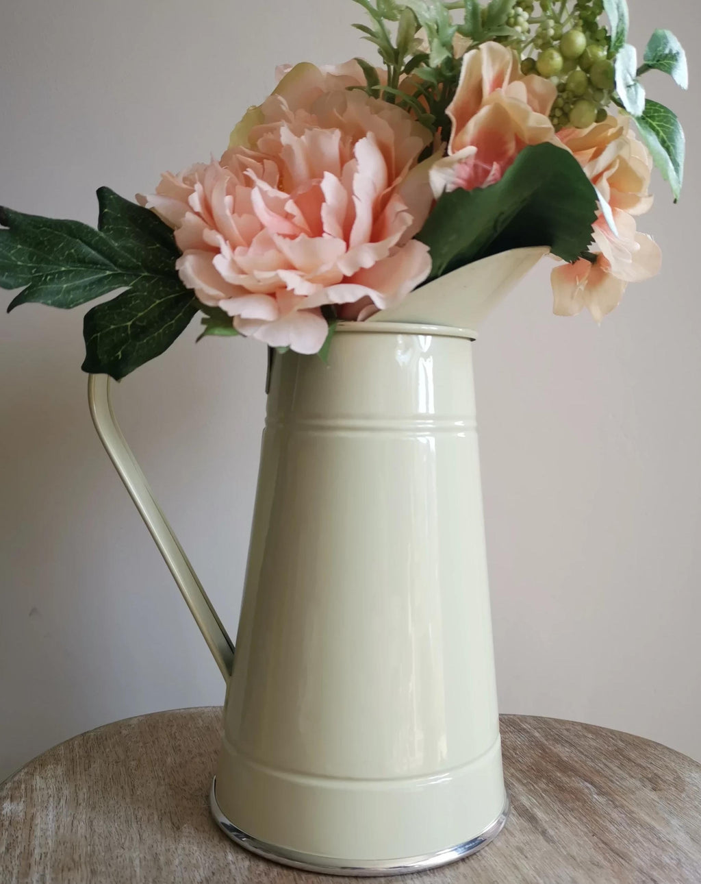 Cream Metal Jug - TBI