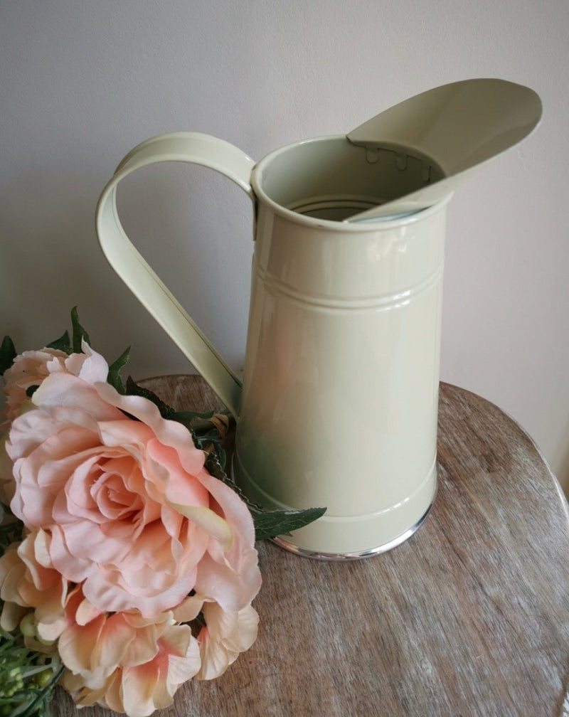 Small Country Cream Metal Jug - TBI