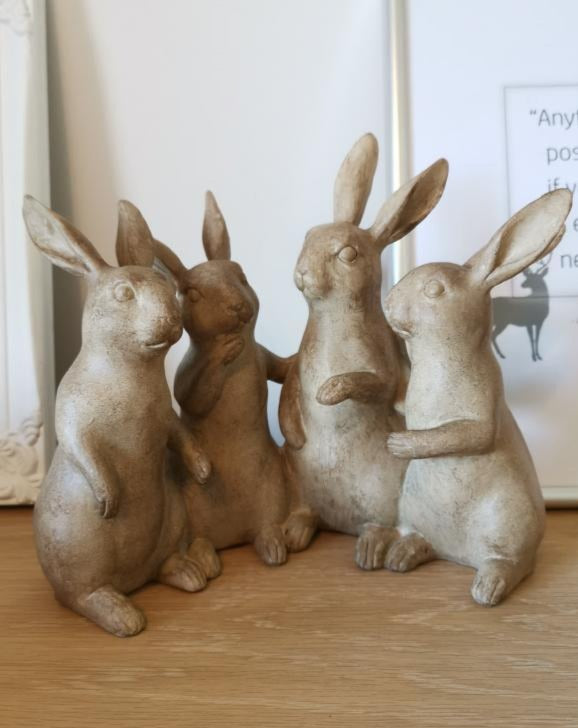 Decorative Playful Quartet of Rabbits - TBI