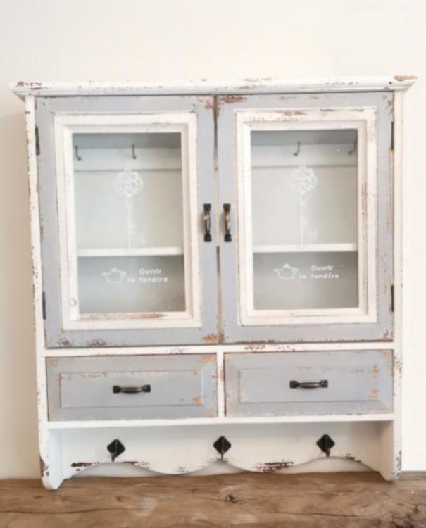Distressed French Key Cabinet - TBI