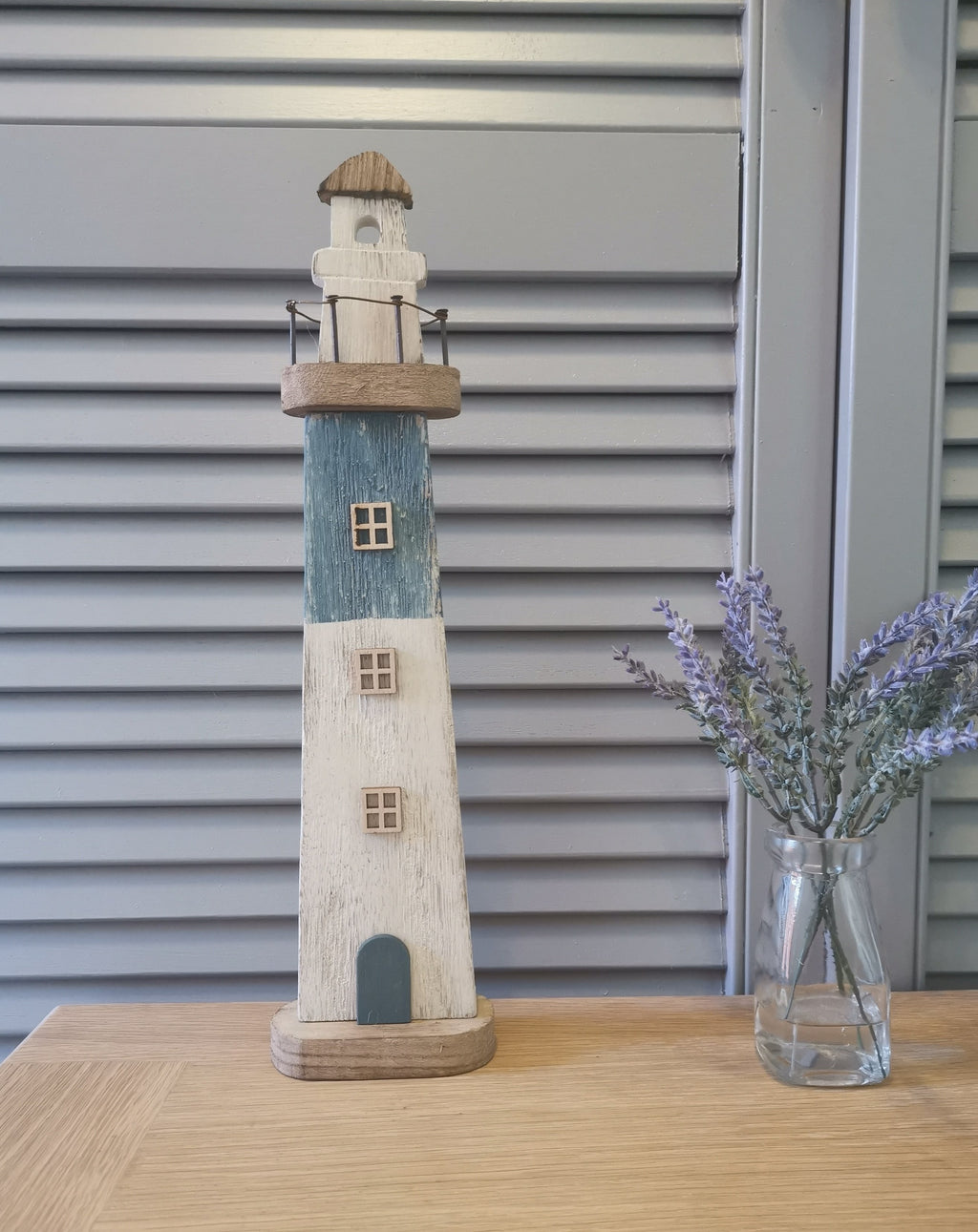 Distressed Wooden Lighthouse - TBI