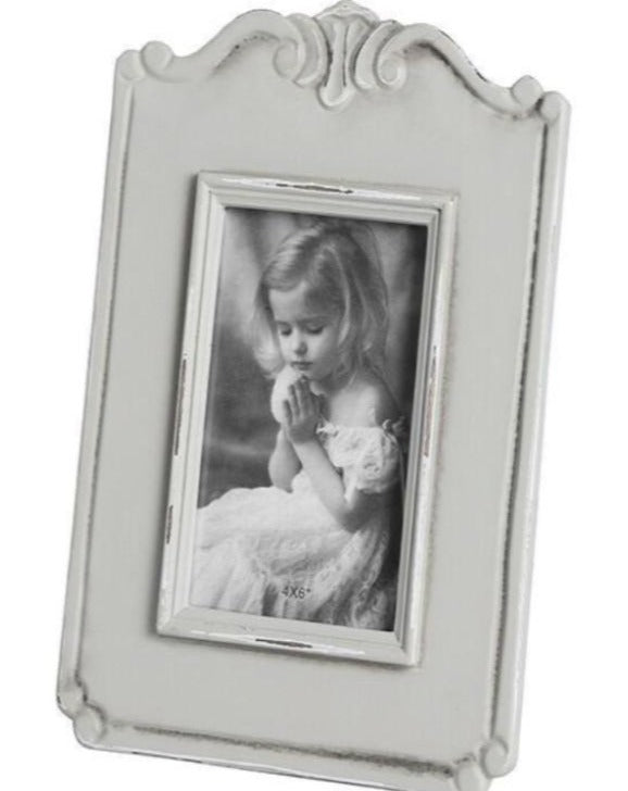 5x7 Grey Shabby Chic Photo Frame | TBI