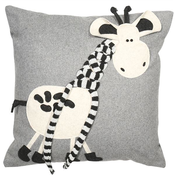 Grey Giraffe Cushion - TBI