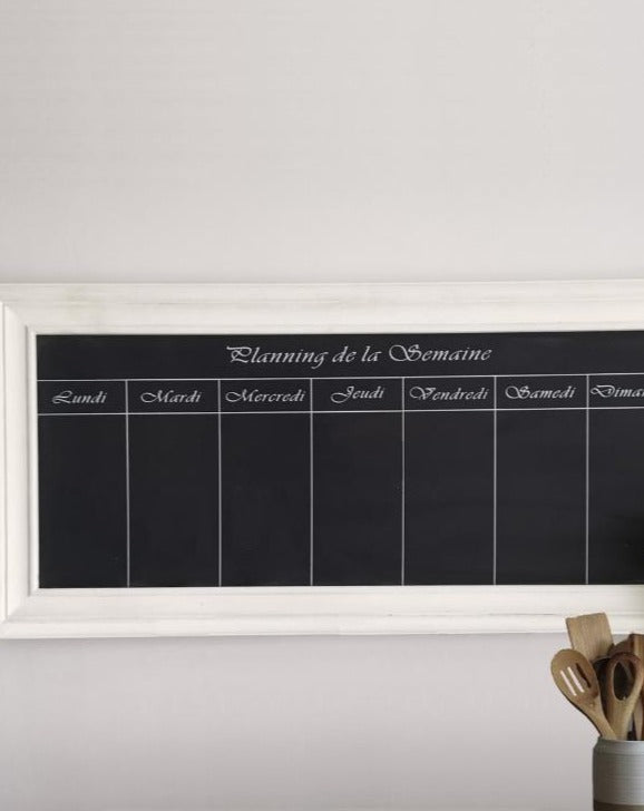 French Weekly Chalkboard Planner | TBI
