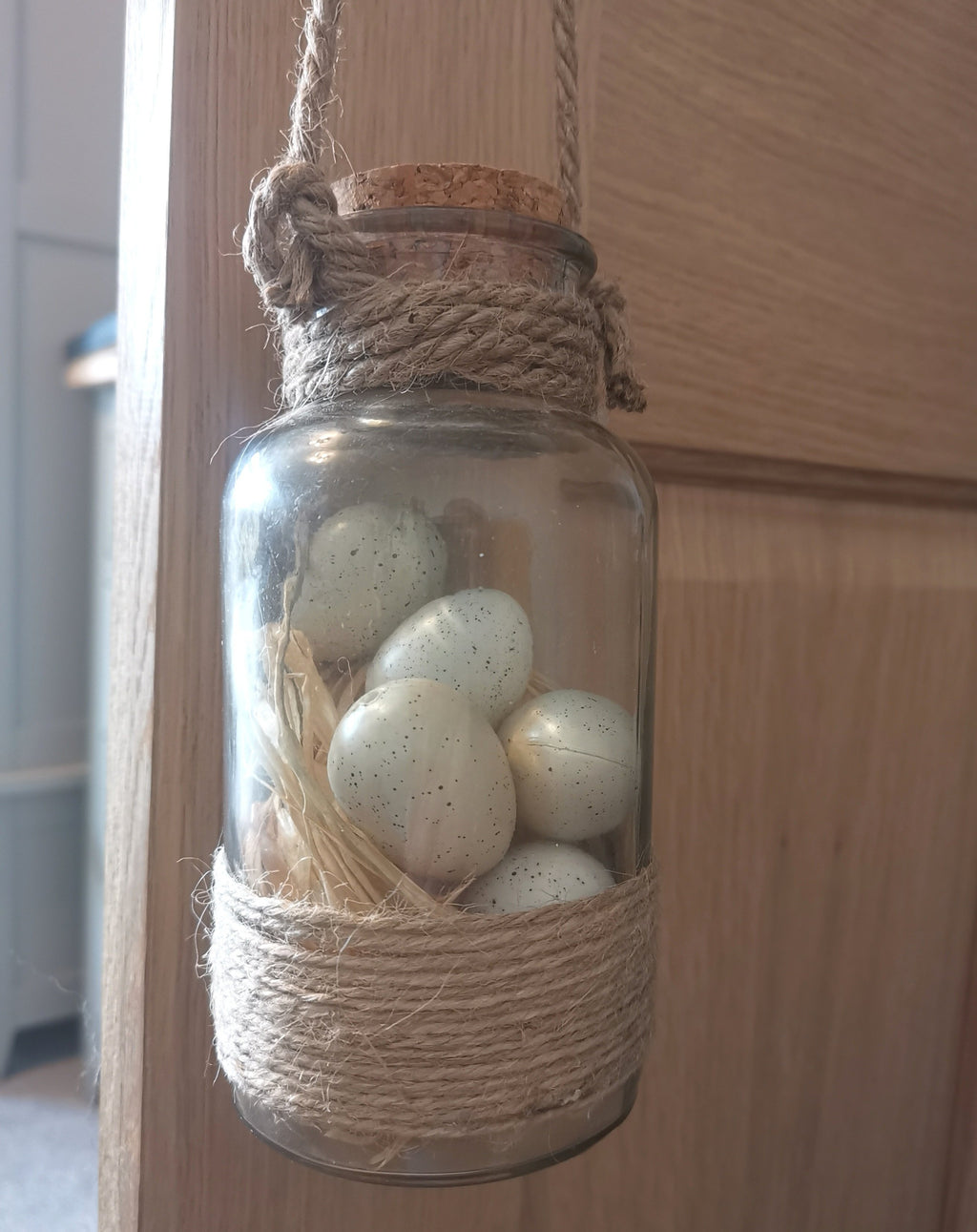 Easter Egg Jar Decor - The Burrow Interiors