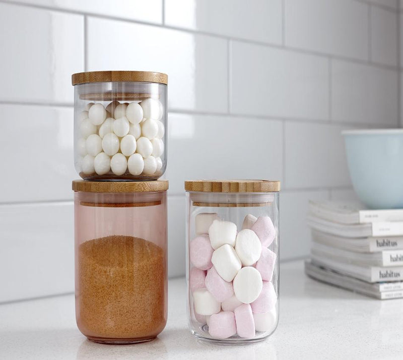 Glass Range Storage Bamboo Lids | TBI