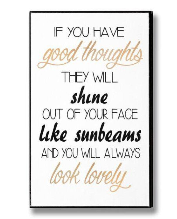 Roald Dahl Good Thoughts Wall Art | TBI
