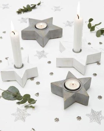 Grey Star Tea Light Holders - The Burrow Interiors