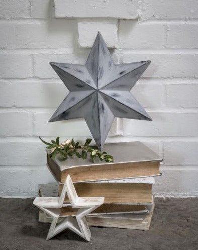 Grey Distressed Wall Star - The Burrow Interiors