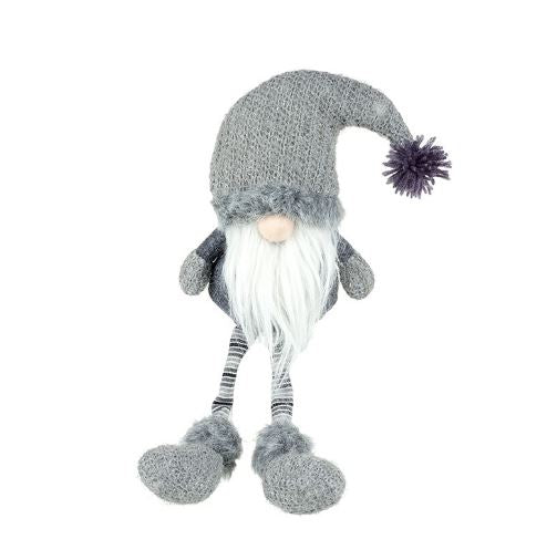 Grey Fluffy Santa Gonk - TBI