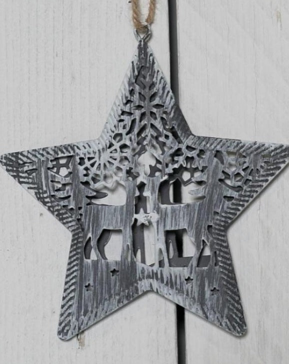 Iron Metal Hanging Star Decoration