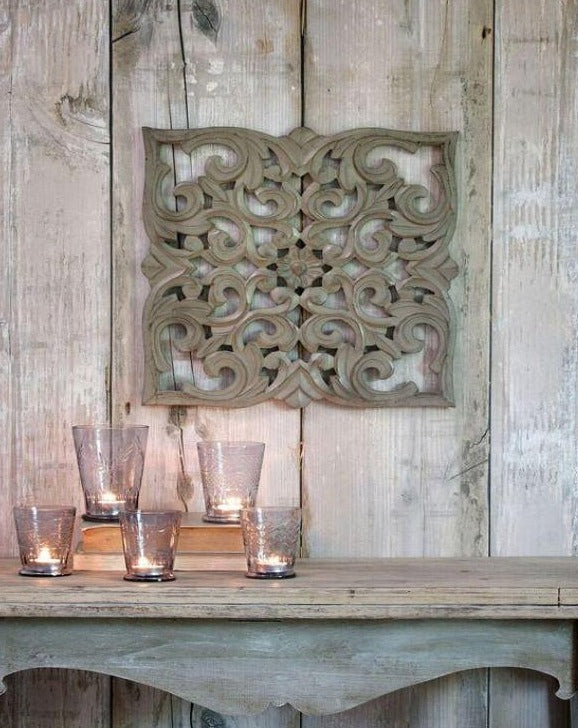 Grey Detailed Wall Carving | TBI