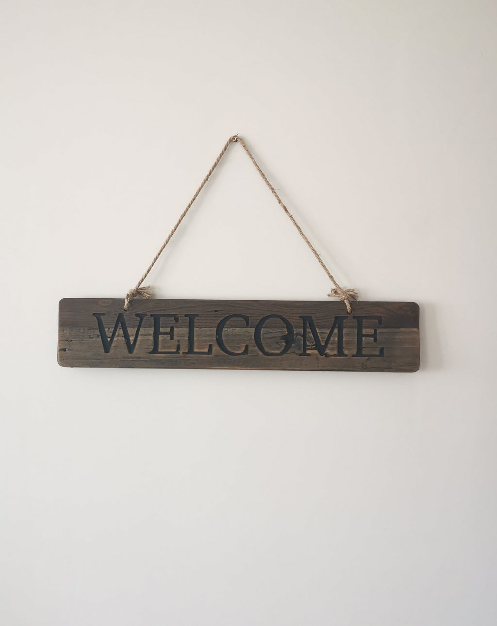 Hanging Rustic Welcome Sign