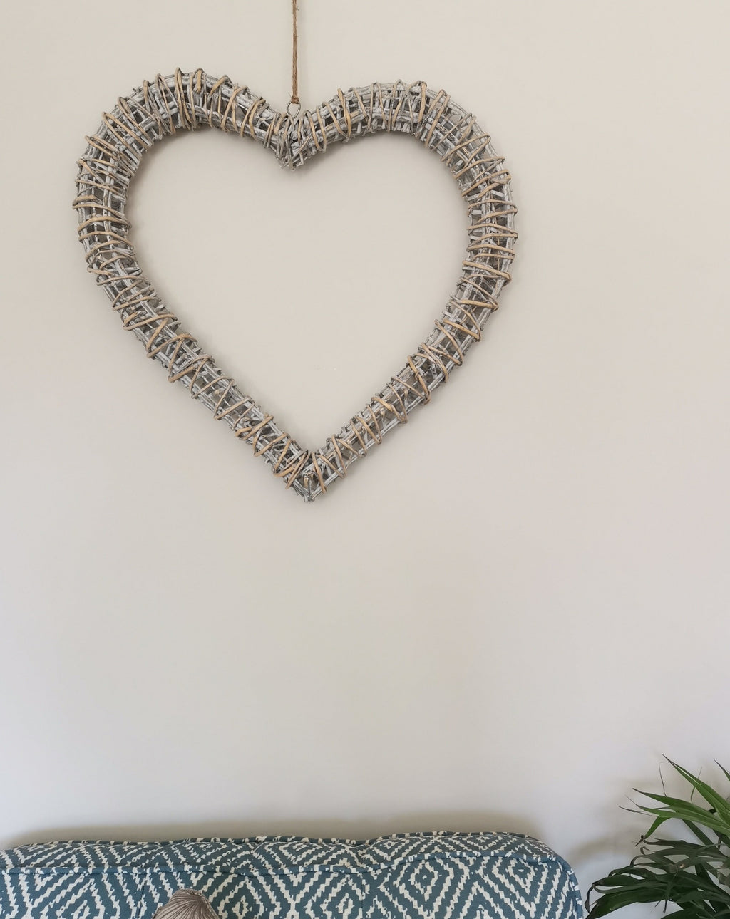 Wicker Heart Christmas Wreath - TBI