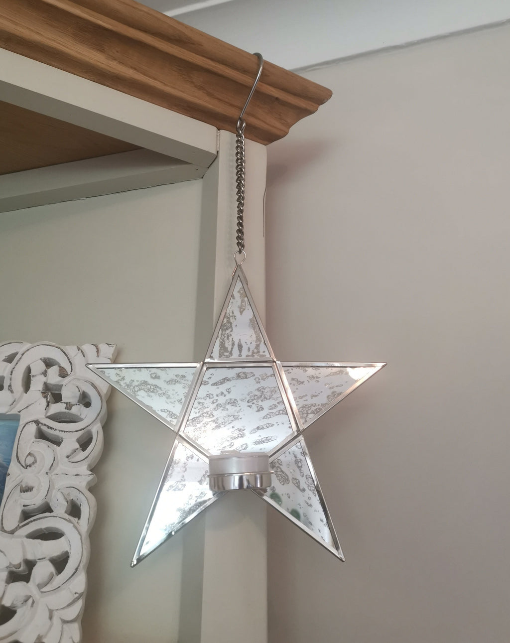 Hanging Star Mirror Tea Light