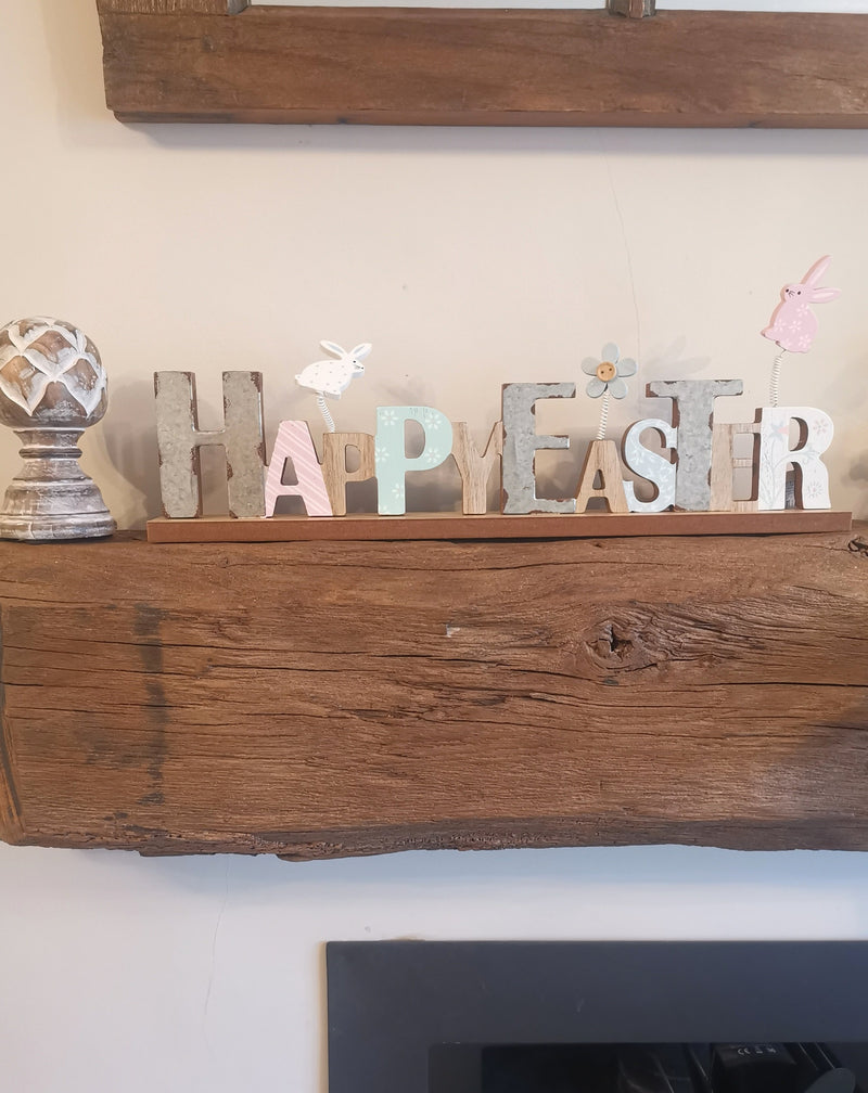 Happy Easter Wooden Sign - The Burrow Interiors