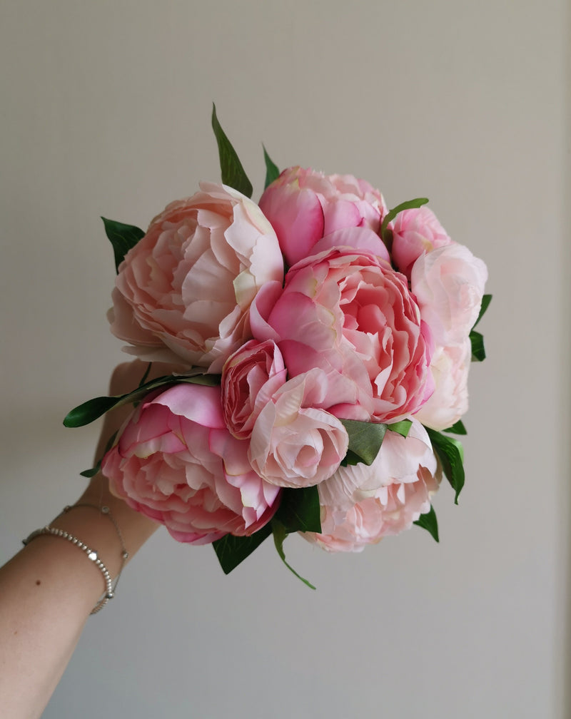 Artificial Pink Peony Bouquet - TBI
