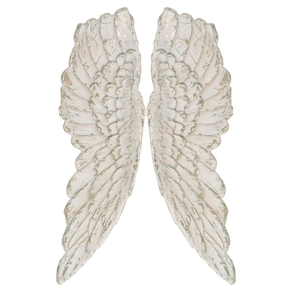 Large Antique Angel Wings - TBI