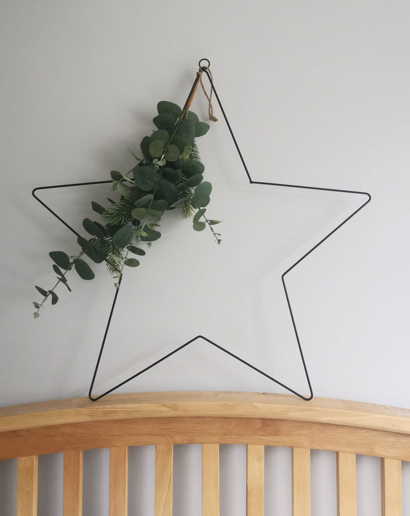 Large Christmas Star with Eucalyptus - TBI