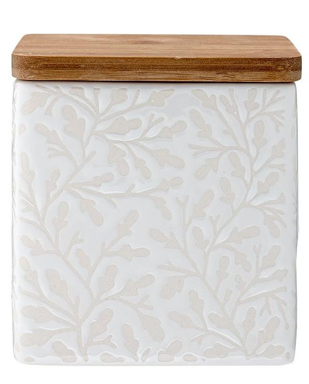 White Patterned Storage Container | TBI