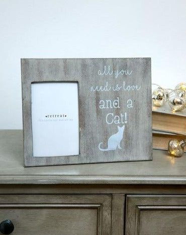 All You Need Is Love & A Cat Photo Frame - The Burrow Interiors