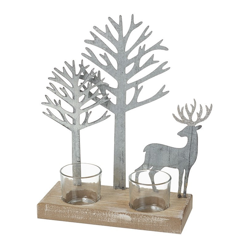 Winter Wonderland Candle Holder - TBI