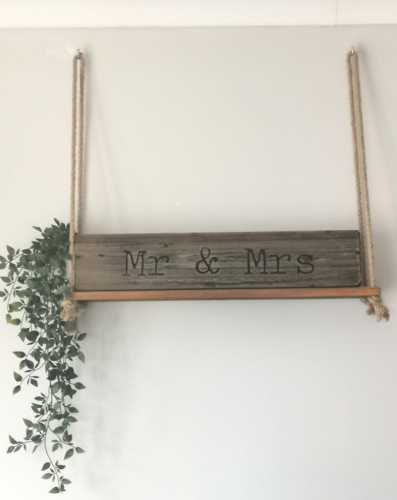 Mr & Mrs Rustic Sign - The Burrow Interiors