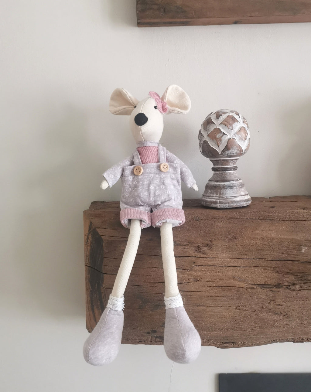 Mylo the fabric easter mouse - The Burrow Interiors