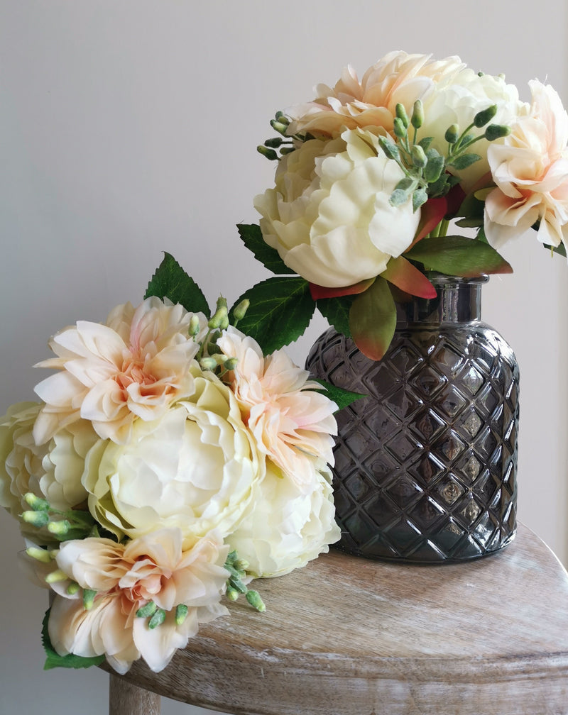 Coral Coloured Peony & Dahlia Bouquet - TBI