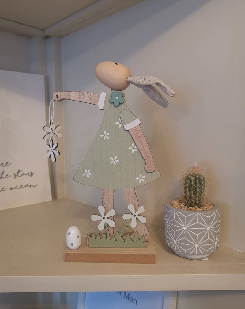 Girl Rabbit Spring Accessory - The Burrow Interiors