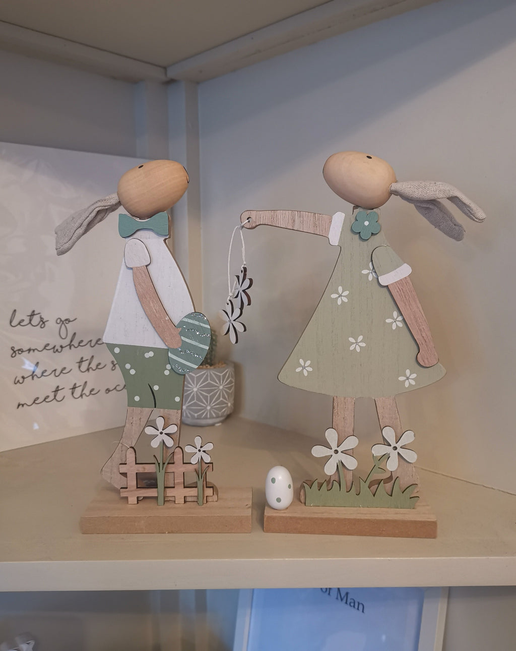 Wooden Easter Rabbits - The Burrow Interiors