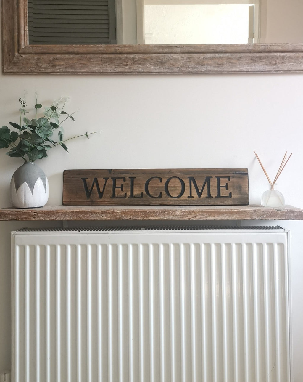 Rustic Welcome Sign - The Burrow Interiors