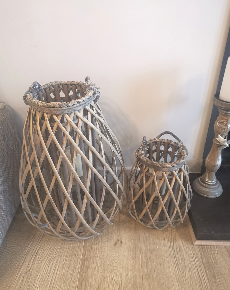 Wicker Domed Lanterns