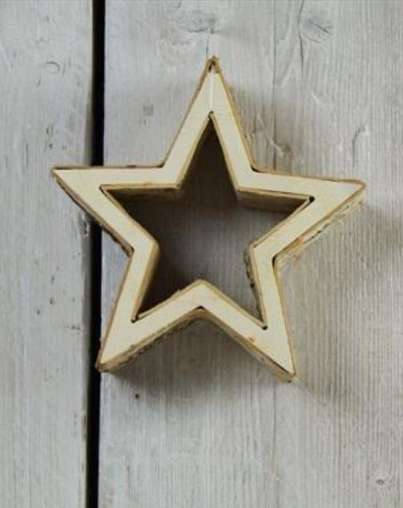 Rustic Birch Christmas Star Ornament