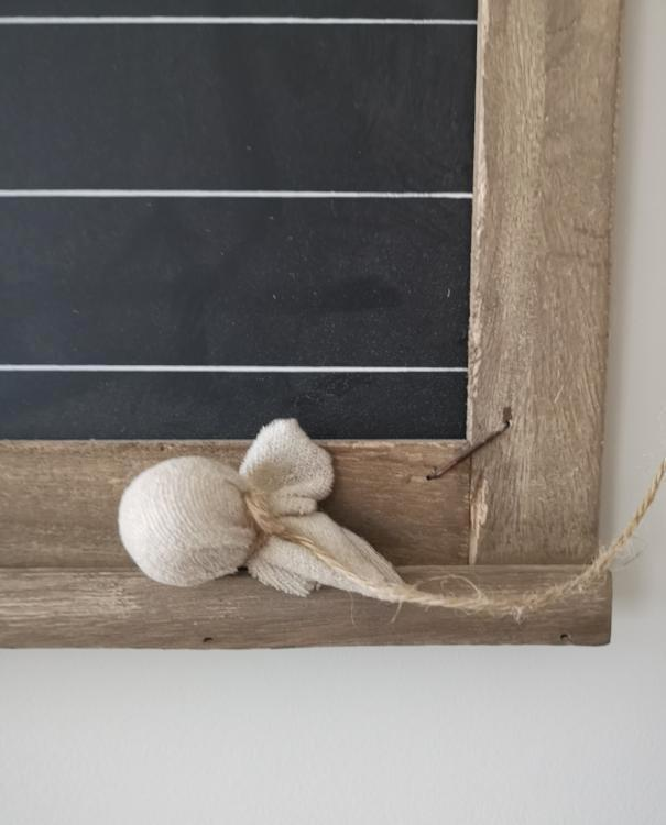 Rustic Wooden Daily Chalkboard with Cotton Eraser | TBI