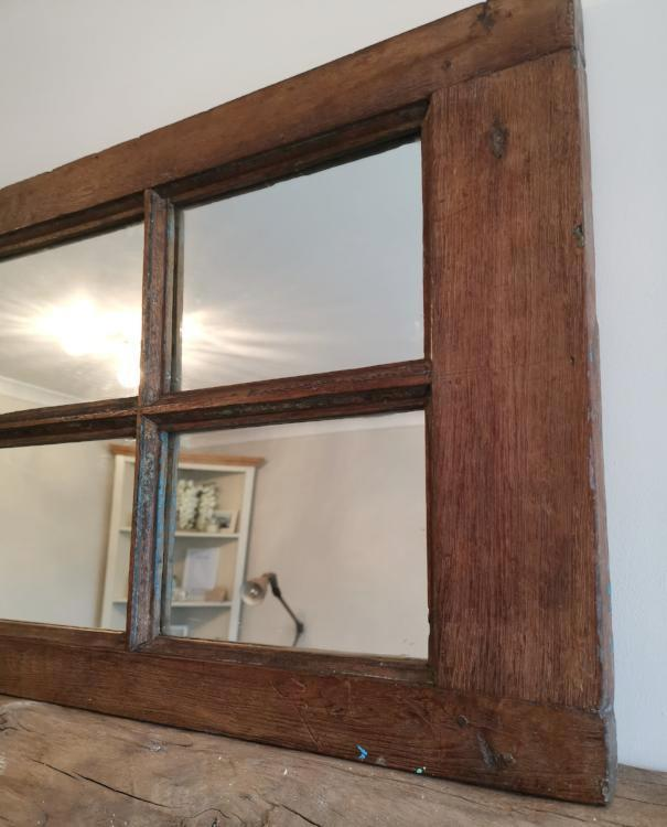 Distressed & Rustic Hardwood with 6 Mirrored Inserts - TBI