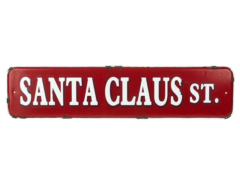 Rustic Santa Claus St. Sign - TBI