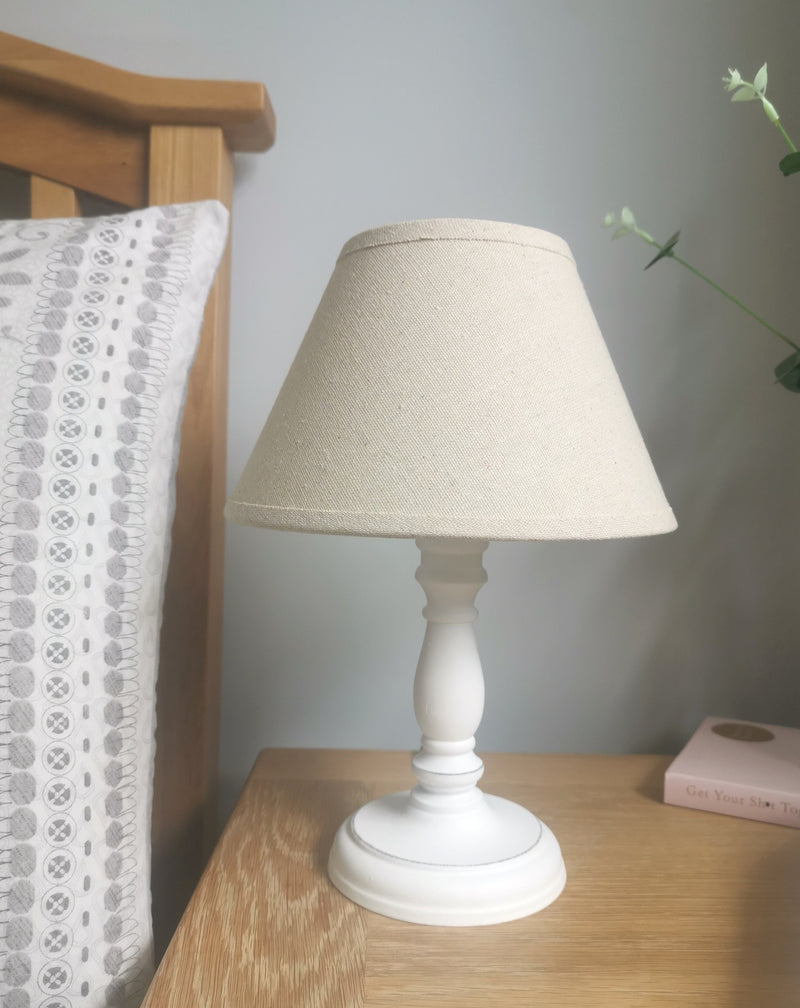 Small White Table Lamp - TBI