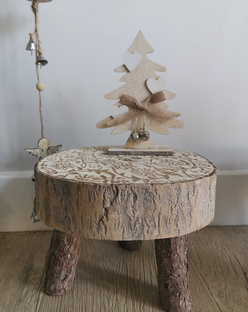 Small Wooden Toad Stool - TBI