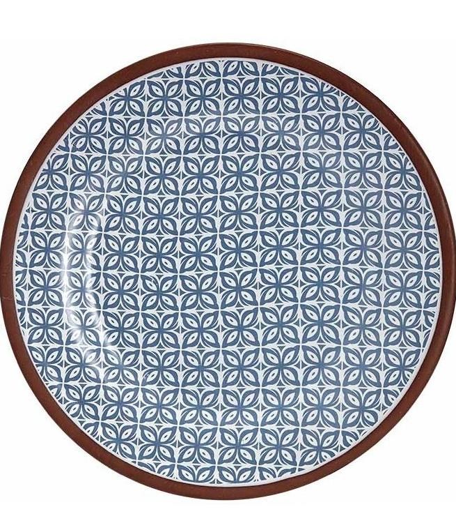 Blue Patterned Tapas Plate | TBI