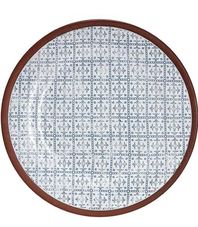 Blue Patterned Spanish Tapas Plate | TBI