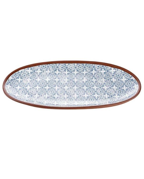 Blue Patterned Spanish Tapas Platter | TBI