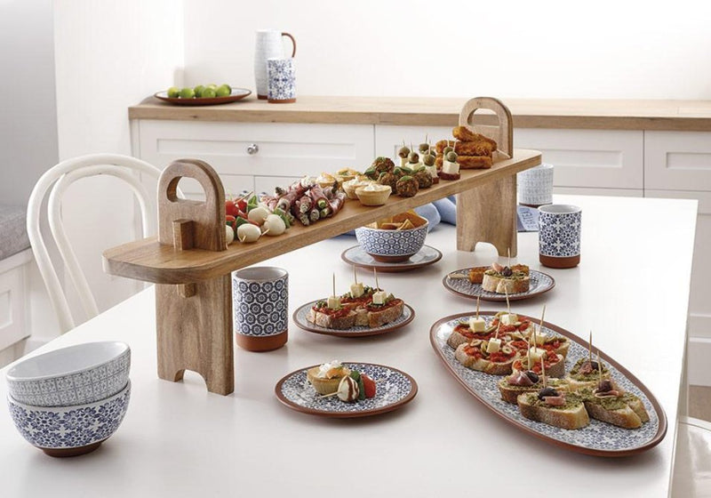 Blue Patterned Tapas Range | TBI