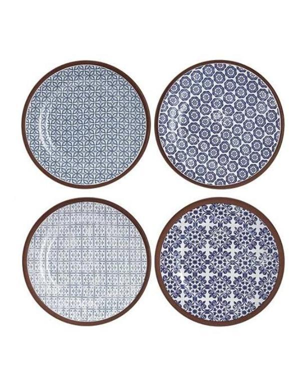 Blue Patterned Assorted Tapas Plates | TBI