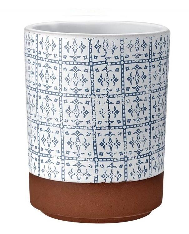 Patterned Blue Tapas Tumbler | TBI