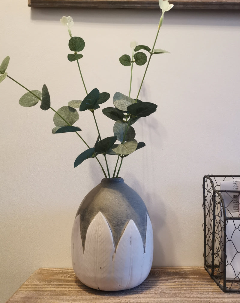 White Leaves Vase - The Burrow Interiors