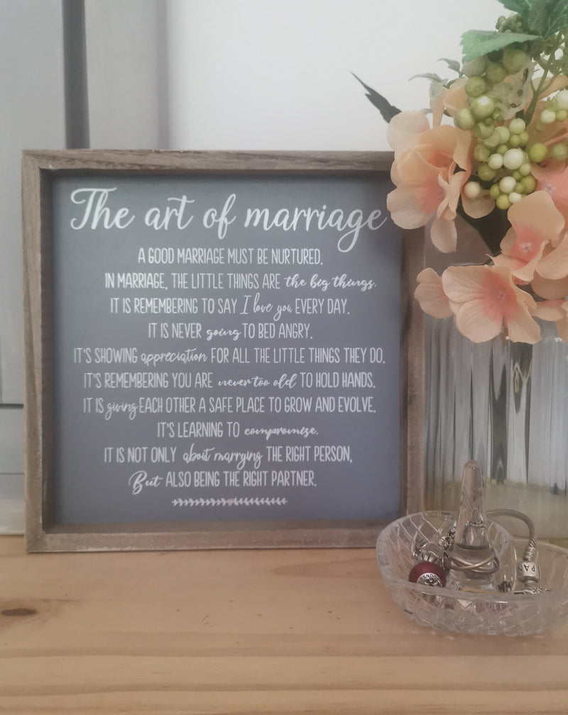 The Art of Marriage Plaque - TBI