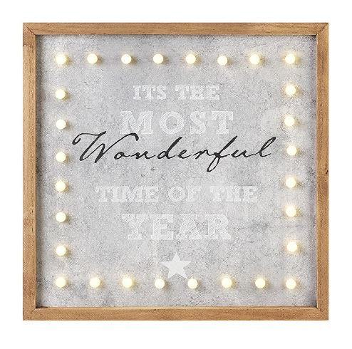 Wonderful Time of The Year LED Sign - TBI